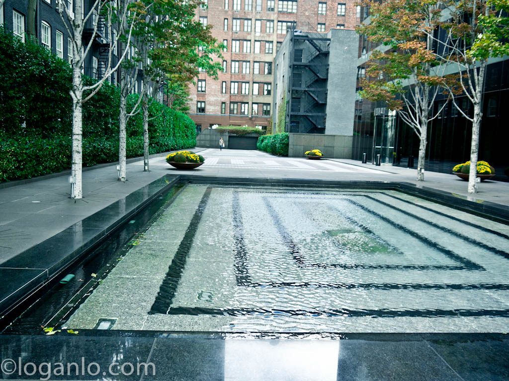 Reflecting pool at the east most part of East 72nd Street.
