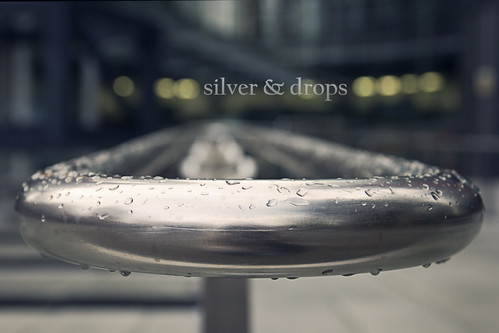 silver and drops