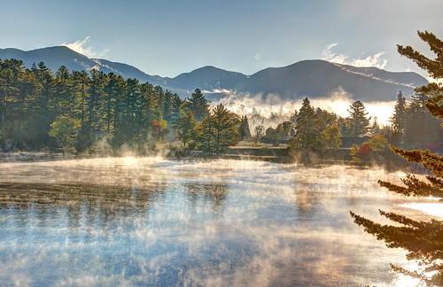 autumn usa mist mountains nature water fog landscape outdoors adirondacks newyorkstate hdr scenicsnotjustlandscapes