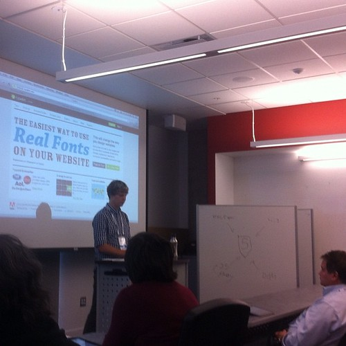 Tylor Sherman demonstrates cool HTML5 and CSS3 examples at #tocvan