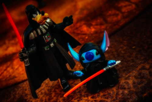 Goofy Vader Takes General Palpatine Stitch On A Picnic At The Lava Pits Green by hbmike2000