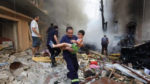 Beirut car bombing on October 19, 2012. Eight people were killed and many more were injured. by Pan-African News Wire File Photos