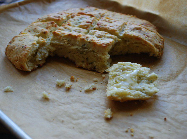 Garlic, Parmesan, Herb Cream Biscuits 1.