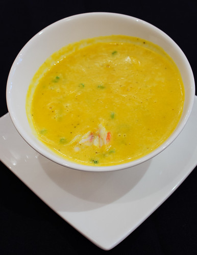 Squash Bisque with Crab