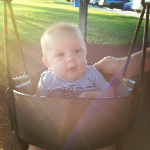 Williams's first time on the baby swing!!