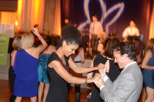 Jacquie Kaden and Jeff Boyd dance to the Butterfly Bash's band, The Winn Brothers