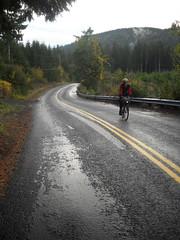 Kevin climbs Gilbert Creek Road
