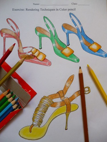 colouring with colour pencils