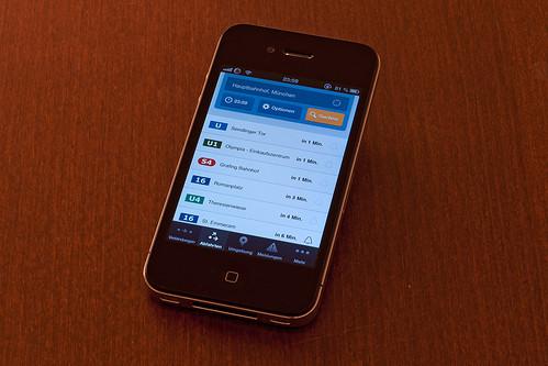 MVG-App auf dem iPhone
