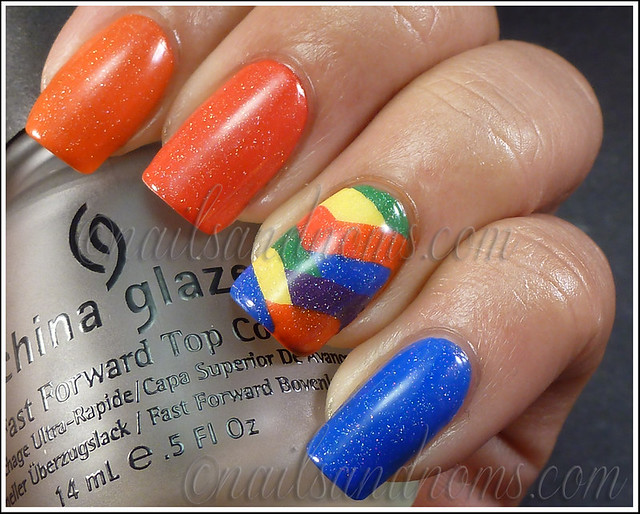 31DC2012 Day 9 - Rainbow Nails 3