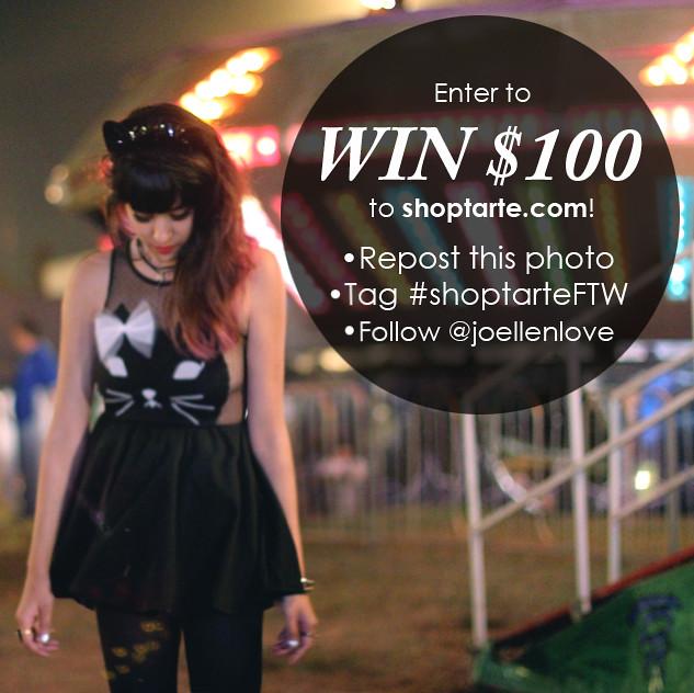 Tarte Vintage instagram giveaway contest
