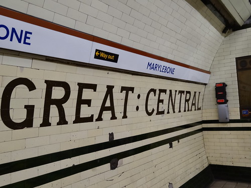 Great Central tiles at Marylebone