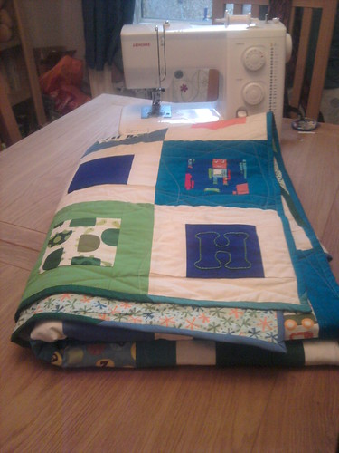 H's finished quilt