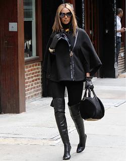 Iman Cape Coat Celebrity Style Women's Fashion