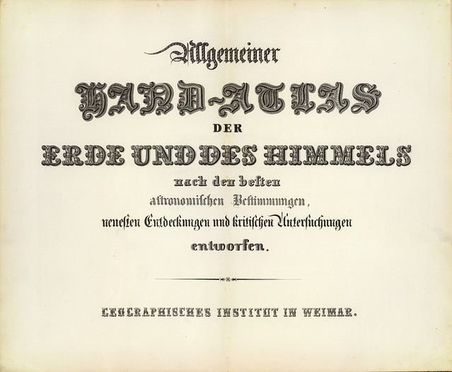 Allgemeiner Hand-Atlas der Erde und des Himmels nach den besten astronomischen  1856