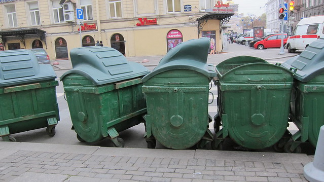 garbage cans in Saint Petersburg