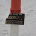 Small photo of Alkali Flat post sign