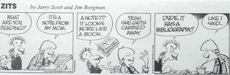 bibliography cartoon