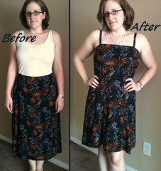 Black Floral Dress Before & After