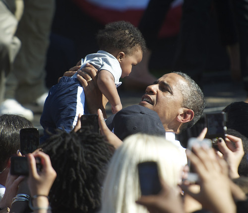 President Obama Greets a Young Supporter in Richmond, Virginia