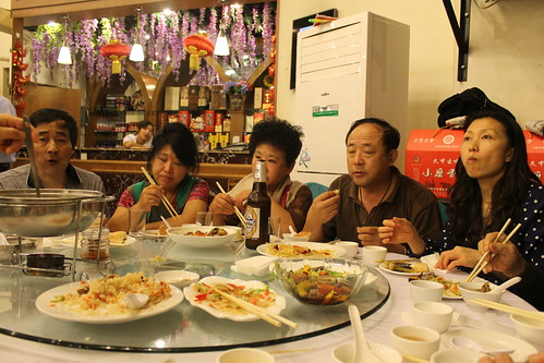 Dinner at my favorite Xinjiang style restaurant with extended family.
