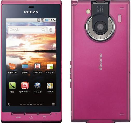 REGZA Phone T-01C 実物大の製品画像