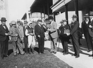 Presentation of the Tattersall's Cup to E. G. Blume, Brisbane, August 1925