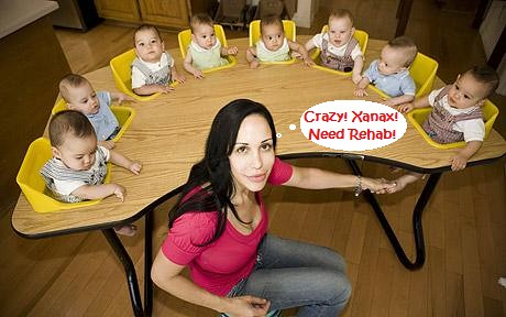 Nadya Suleman checked into rehab after admitting shes addicted to Xanax