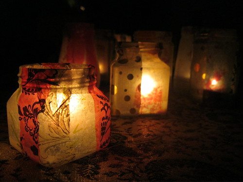 Jam Jar Tea Lights 1