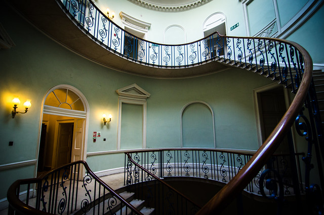 There are multiple beautiful staircases scattered around the Courtauld Gallery and Somserset House.