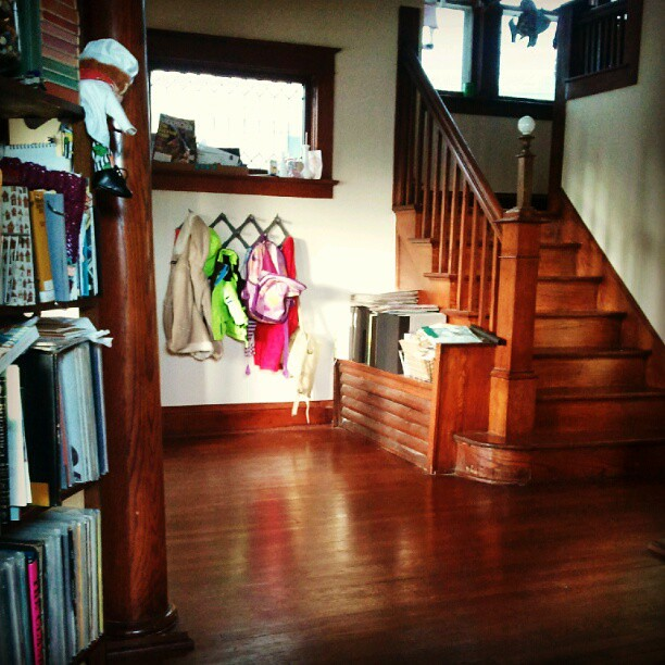 The entryway is cleanish!