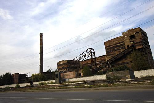 Fabbriche lungo la via per Tbilisi