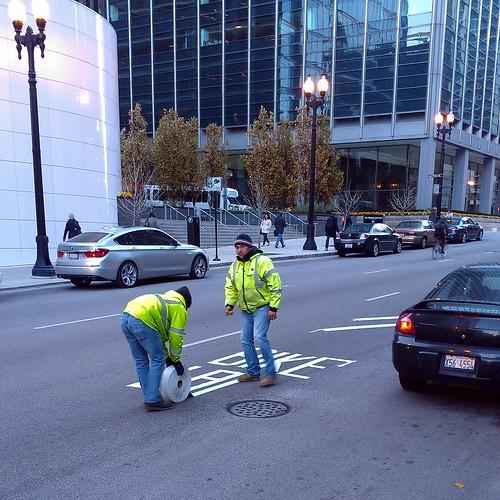 New bike lane markings by dharder9475
