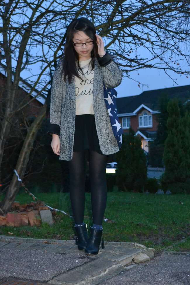 daisybutter - UK Style and Fashion Blog: what i wore, AW12, british fashion, layering, how to layer knits, ootd, asos, miss selfridge
