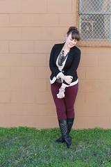 Two-tone blazer outfit