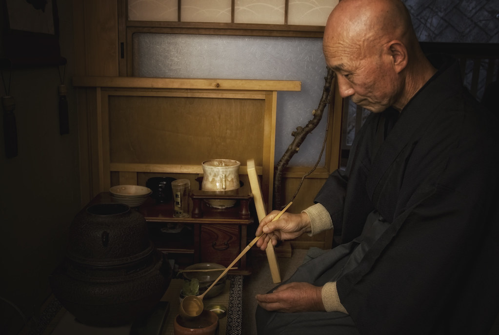 Zen Master Jinen Doing The Tea Ceremony