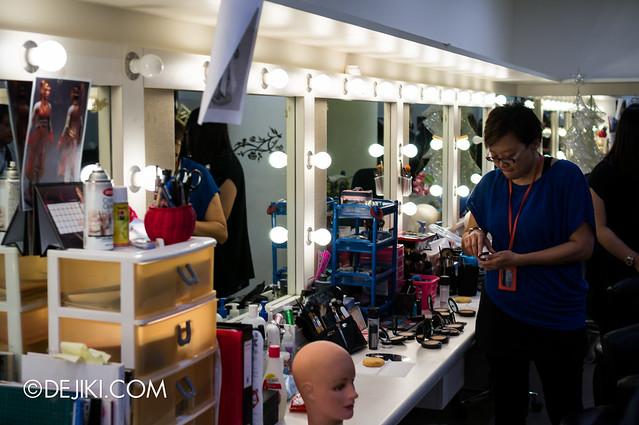 Hair and Make-up Room