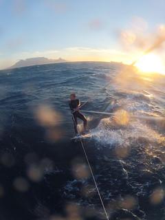 Kitesurfen am Bloubergstrand