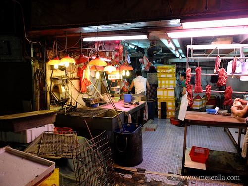 Tiendas en la vieja Hong Kong