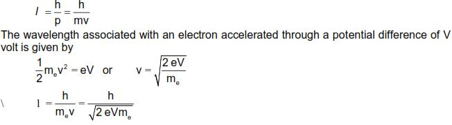CBSE Class 12 Physics Notes: Dual Nature of Radiation and Matter - Debroglie Wavelength