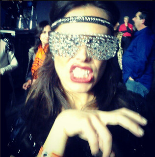 Lady Gaga rhinestone glasses