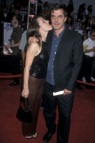 Kristin Davis and Chris Noth at the Ninth Annual MTV Movie Awards 3/6/2000