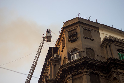 Small fire in down town Cairo