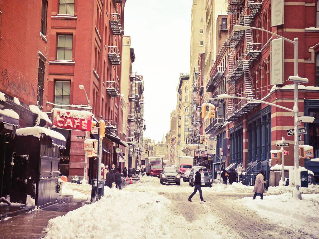New York Winter - Snow in Soho