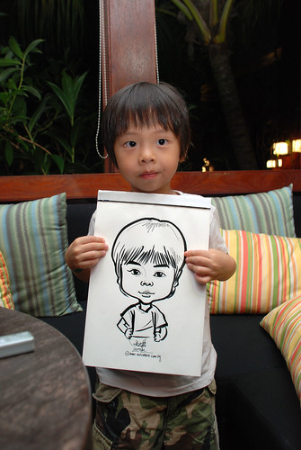 caricature live sketching for Mark Lee's daughter birthday party - 29