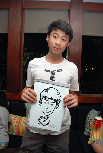 caricature live sketching for Mark Lee's daughter birthday party - 32