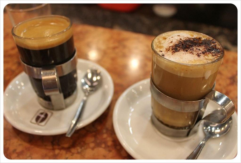 cafe con piernas coffee and cortado