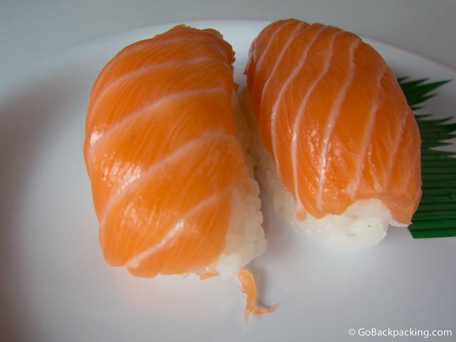 Salmon nigiri, my favorite