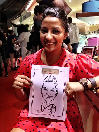 caricature live sketching for Au Chocolat Opening - 14