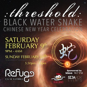 Threshold Black Water Snake Portland Chinese New Year @ Refuge PDX